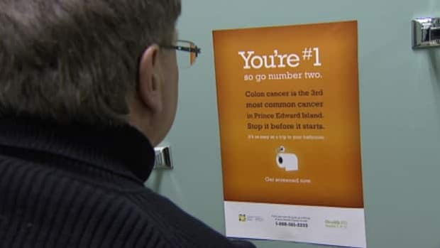 The new campaign is to encourage people to get screened for colorectal cancer.