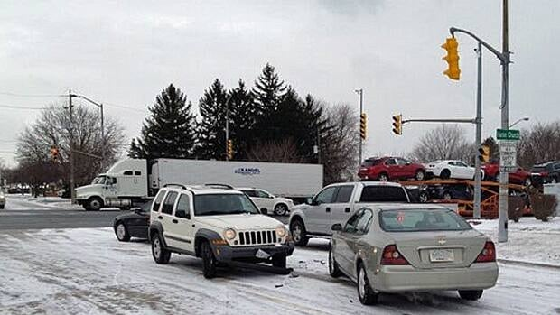 Windsor Police said there have been over 30 accidents within city limits Thursday.