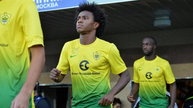 Willian comes to Chelsea from Anzhi Makhachkala after the Russian club decided to sell him in a cost-cutting move.