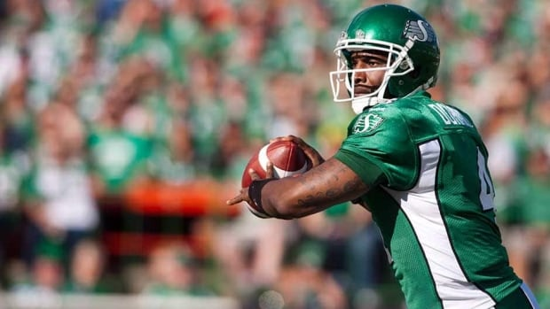 Roughriders quarterback Darian Durant had 347 yards passing and four TDs in Saskatchewan's lopsided 37-0 home win over Hamilton on Sunday.