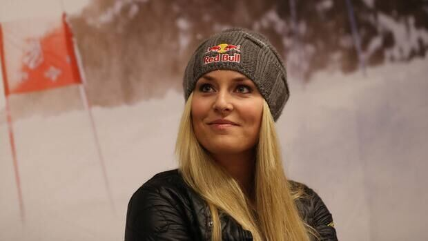 U.S. ski racer Lindsey Vonn during a press conference in in Schladming, Austria, Feb. 3, 2013.