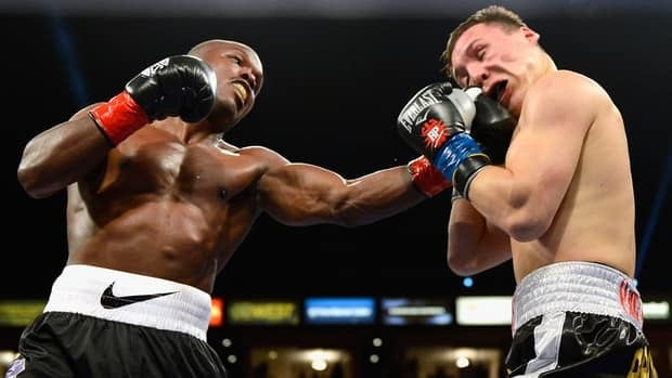 WBO welterweight champion Timothy Bradley, left, lands a punch against Ruslan Provodnikov during their championship match Friday.