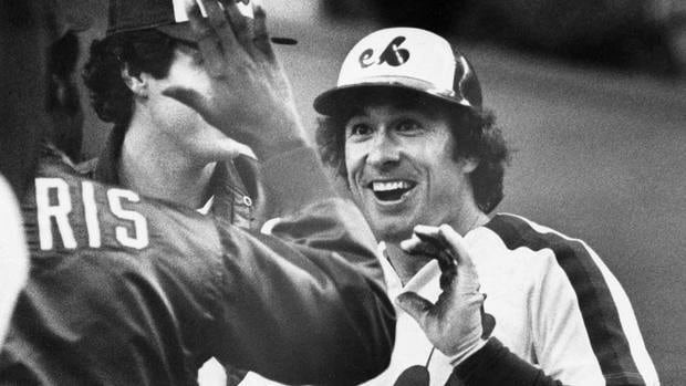"Gary Carter is all smiles after scoring during a Sept. 24 1981, game against Pittsburgh. ""We'd score a run or something great would happen on the field and he'd throw his fist up and say, 'Yeah!' He'd be snapping high fives and all that stuff,"" says Carter's former teammate Jerry White."