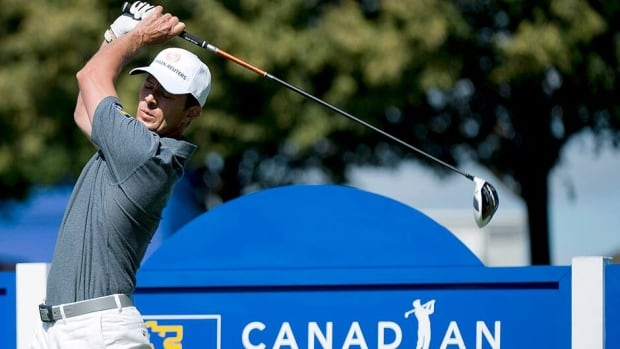 Mike Weir watches his tee shot on the eighth hole during the Canadian Open Pro-AM in Oakville on Wednesday. After a terrible showing at the Canadian Open in 2012, Weir is heading into this year's tournament with renewed confidence.