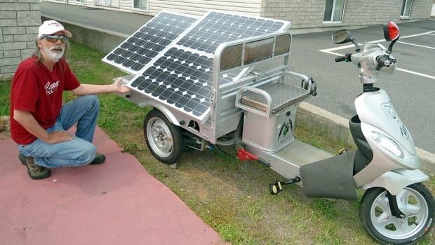 Richard Small plans on riding his solar powered bike from Thunder Bay to British Columbia.