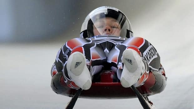 Alex Gough, shown in this file photo, helped her Canadian luge teammates earn a silver medal in Austria on Sunday.