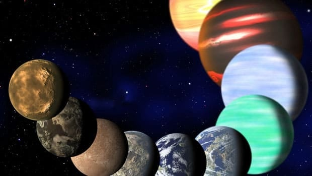 This artist rendering released Monday Jan. 7,2013 by Harvard-Smithsonian Center for Astrophysics shows the different types of planets in our Milky Way galaxy detected by NASA's Kepler spacecraft.