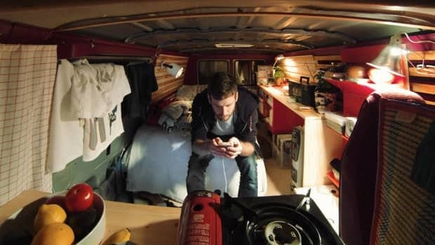 Mathew Arthur plans to live in this van as a way of simplifying his life and tesing the limits of small-scale living.