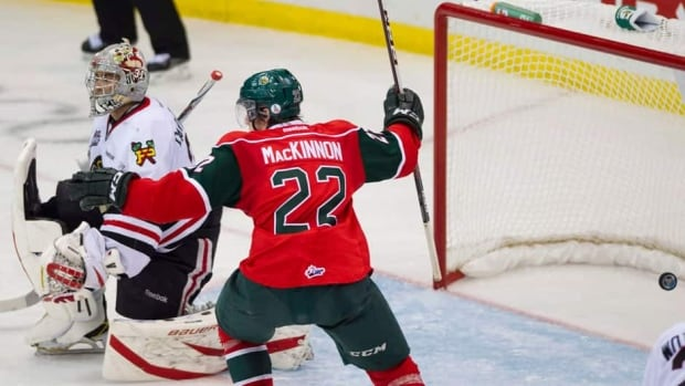 Halifax Mooseheads centre Nathan MacKinnon has four goals and eight points in this year's Memorial Cup.