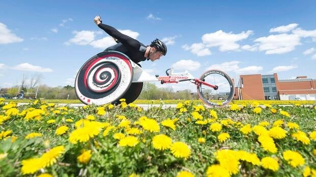 Canadian wheelchair athlete Josh Cassidy, who recently set a world record at the Boston Marathon in the wheelchair division, is shown here training in Toronto in April. Cassidy will also be representing Canada at the 2012 Paralympics in London, England.
