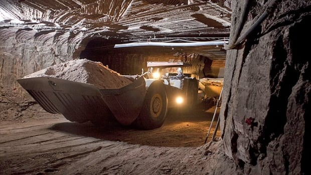 A front loader filled with potash in Colonsay, Sask. is shown. The province's economy was one of the best-performing ones in Canada in 2011.