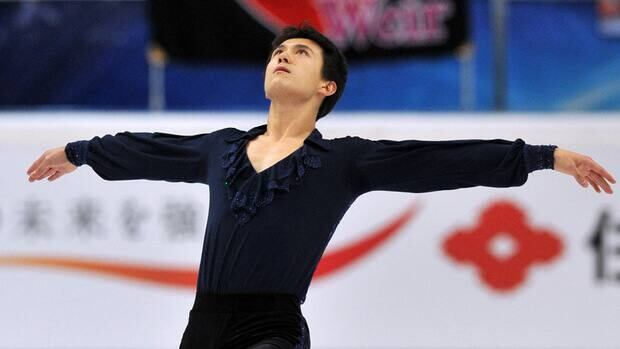 Patrick Chan of Canada of ISU Grand Prix skating series, at the Megasport arena in Moscow.
