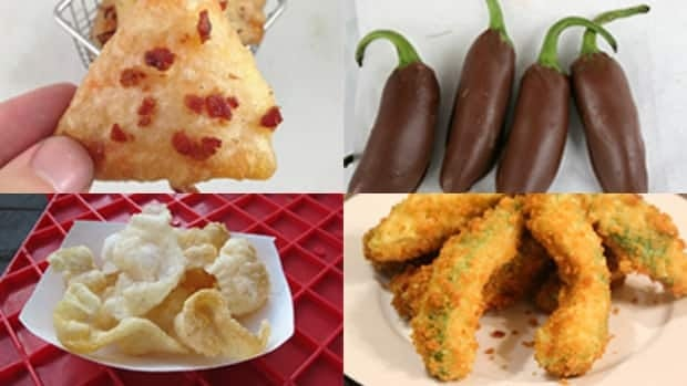 "From deep fried Doritos, deep fried avocado, shrimp chips and chocolate-dipped jalapeños, Stampede officials say ""this year's spread is not for the faint of heart."""