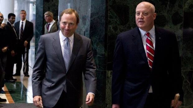 Commissioner Gary Bettman, left, and deputy commissioner Bill Daly reportedly represented the NHL at a meeting ahead of Wednesday's scheduled formal talks, which were subsequently called off.