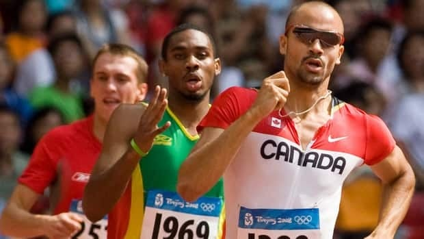 Canadian 400-metre specialist and 2005 world bronze medallist Tyler Christopher, front, was among the track athletes coached by Kevin Tyler.