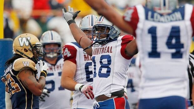 Jamel Richardson (18) and the Alouettes have won all three of their August games.
