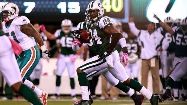 Jets defensive back Darrelle Revis was injured Sept. 9 against the Buffalo Bills when he was accidentally kicked in the head by teammate Bart Scott while attempting a tackle.