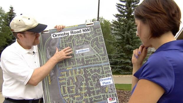 Residents in Ormsby road are frustrated by heavy traffic through their neighbourhood after the province cancelled construction of a fly-over across Anthony Henday Drive.