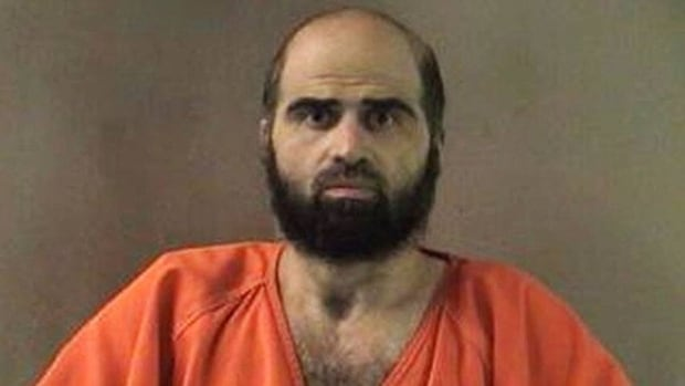 An undated file photo provided by the Bell County Sheriff's Department shows Nidal Hasan, who is charged in the 2009 shooting rampage at Fort Hood that left 13 dead and more than 30 others wounded.