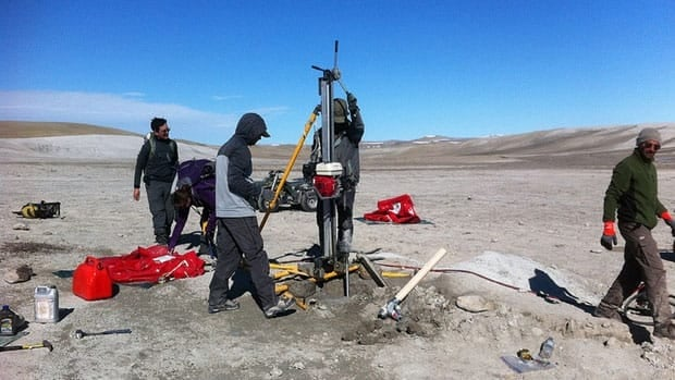 Astronauts, along with a group from the University of Western Ontario, are studying the geology at the Haughton Crater, located on Devon Island in the High Arctic.