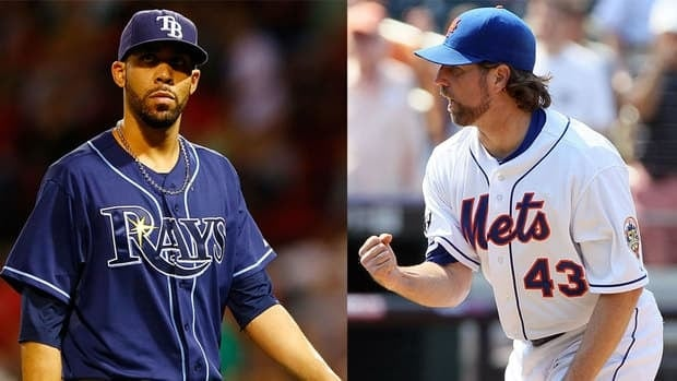 David Price of the Tampa Bay Rays won his first American League Cy Young Award in one of the closest races ever, while another first-time winner R.A. Dickey of the Mets ran away with the victory in the National League.