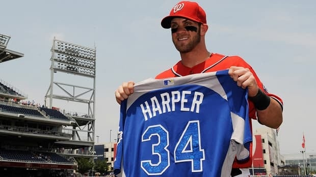 Washington Nationals slugger Bryce Harper is the youngest position player in All-Star history.