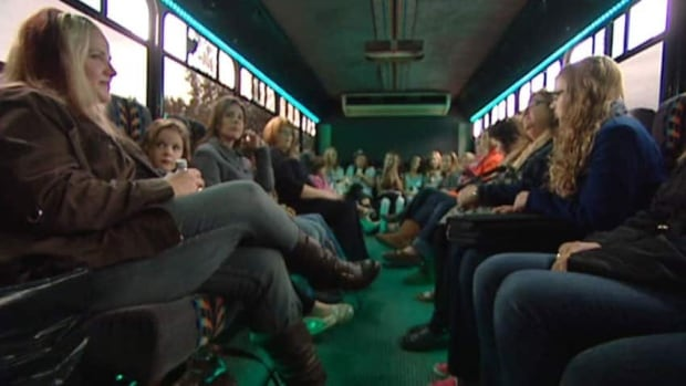 A bus filled with fans of Justin Bieber, and their parents, was on its way from Regina to Saskatoon.