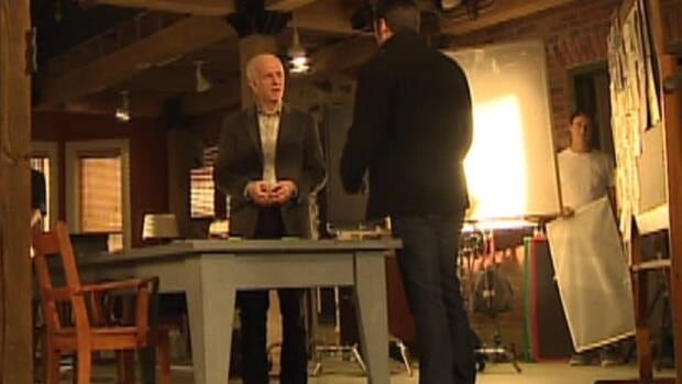Sean McGinley, who plays Malachy Doyle, prepares to shoot a scene on the set of Republic of Doyle.