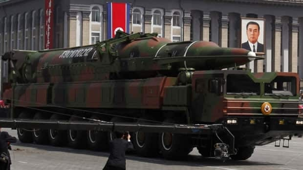 A rocket displayed during an April military parade in North Korea was later cited as a new long-range missile, presumed to be a ballistic missile with a range of 6,000 kilometres by South Korean news agencies.