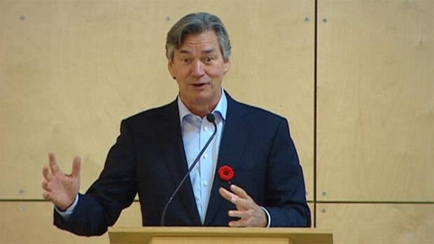 Canada's ambassador to the United States, Gary Doer, the former premier of Manitoba, spoke to students at Red River College on Friday about the outcome of the U.S. elections.