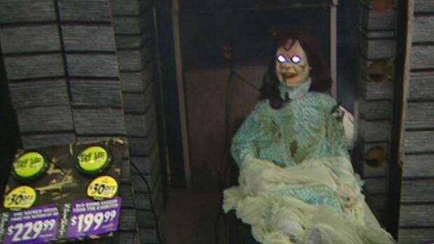 A Halloween animatronic on display in St. John's. CBC