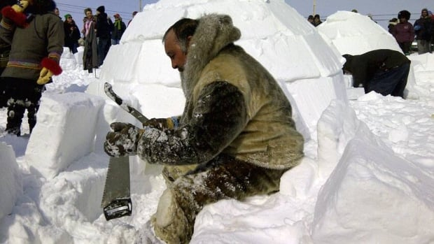 Solomon Awa, the 2012 festival's honorary 'Toonik', takes part in the igloo-building competition that year. The Toonik Tyme Society in Iqaluit wants the city to once again take over the annual event, saying it struggles to retain enough volunteers to put on the spring festival.