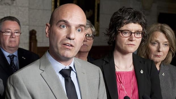 NDP House leader Nathan Cullen says the party can't stop the government's omnibus budget bill, but hopes to engage the public's attention about its contents. Here he speaks about measures the party will use to stall the government's omnibus budget bill, on May 10.
