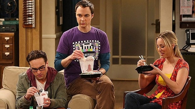 Top-rated CBS comedy The Big Bang Theory stars, from left, Johnny Galecki, Jim Parsons and Kaley Cuoco.