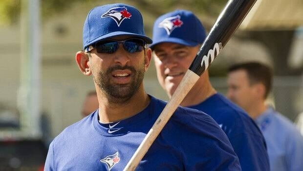 Blue Jays slugger Jose Bautista led the big leagues in home runs (43) and slugging percentage (.608) while finishing second in on-base percentage (.447) in 2011.