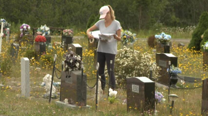Students map Stephenville cemetery using GPS | CBC News on