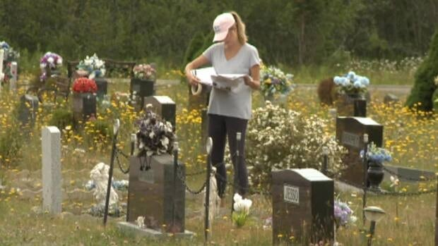 Six CNA graduates are mapping this cemetery using GPS technology.