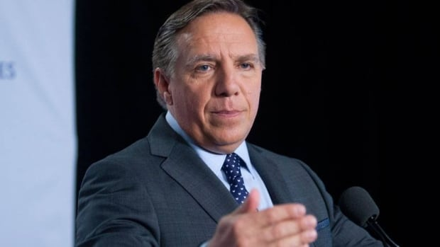 Coalition Avenir Québec Leader François Legault, speaking to reporters following Wednesday night's debate, says he wouldn't strengthen the province's language laws, but he would ensure they're better enforced.