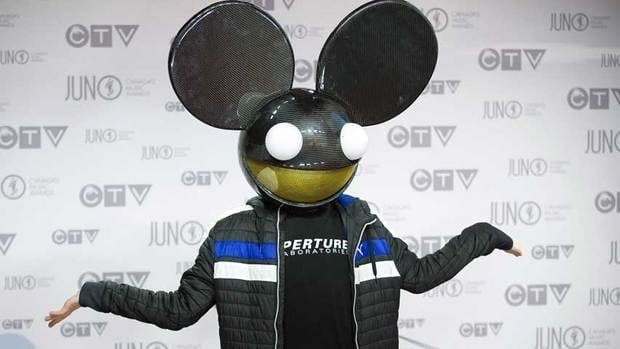Deadmau5, wearing his trademark mouse head,  arrives at the Juno Awards on April 1. On Monday, he'll receive a SOCAN International Achievement Award