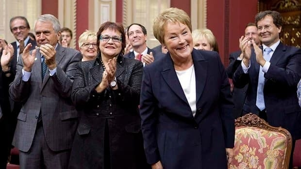 Premier-designate Pauline Marois was sworn in as the member for the Charlevoix-Cote de Beaupre riding during a ceremony Monday at the national assembly.