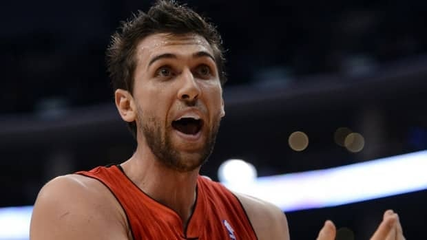 Andrea Bargnani of the Toronto Raptors is sidelined because of a torn ligament in his elbow and a strained right wrist.