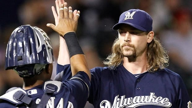 Brewers relief pitcher John Axford of Port Dover, Ont., says his Twitter comments are all in good fun and he keeps a sense of humour about the negativity.