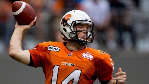 B.C. Lions quarterback Travis Lulay prepares to the throw the ball during the first half Saturday against the Toronto Argonauts.