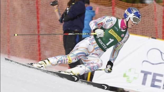 Lindsey Vonn was bothered by her aching knees during the season, but kept it quiet.
