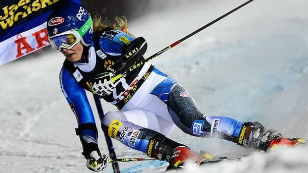 American teenager Mikaela Shiffrin captured her first World Cup victory on Thursday, putting down a perfect second run to win a night slalom.