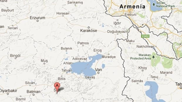 Thirteen soldiers and four military crew members were killed in a crash in a mountainous part of Pervari district in Siirt province, in southeastern Turkey.