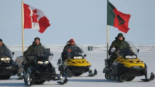 Canadian Rangers participate in training with the Canadian Forces.