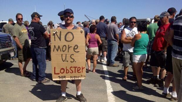 Lobster fishermen say southeastern plants have agreed not to process anymore U.S. lobster.