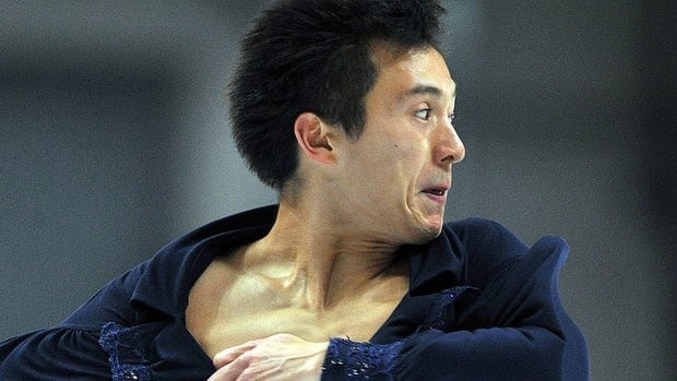 Canada's Patrick Chan is nearly nine points ahead of his nearest rival following Friday's short program, despite turning a planned triple after his initial quad toe into a single.