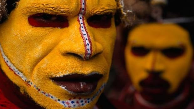 Indelible images, including this 1998 photo of Huli Tribesman in Papua New Guinea, are among the small selection of the National Geographic Society's collection to be sold at auction in New York in December.